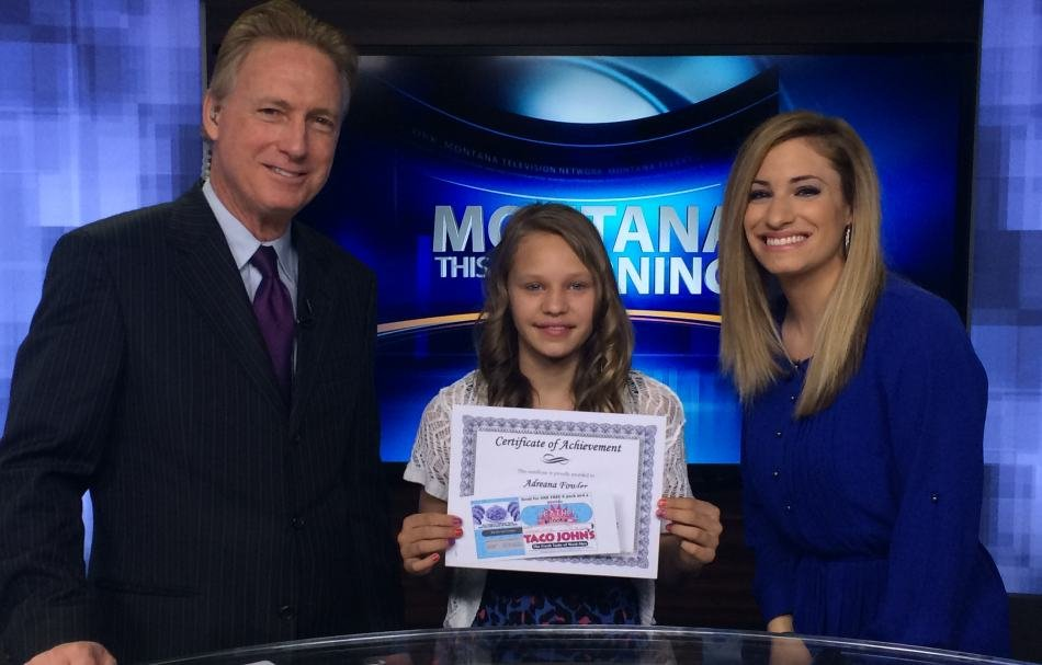 Our Weather Rookie on Wednesday morning was Adreana Fowler.