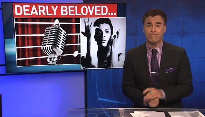 The Tennessean reportsthat WZTV Fox-17 sports anchor Dan Phillips incorporated well-known Prince lyrics into a sports broadcast on April 21, the day Prince died. (Facebook photo)