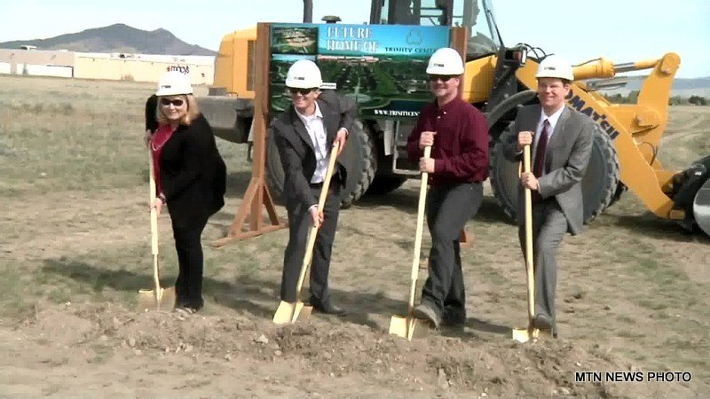 Members of the Chamber of Commerce broke ground on the Trinity Center on Thursday morning.
