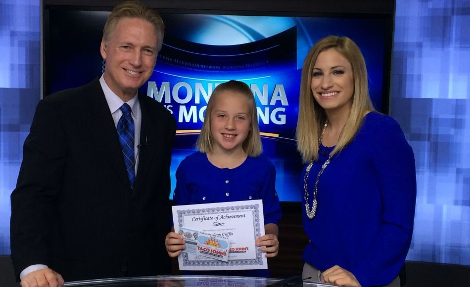 Madison Griffin was the KRTV Weather Rookie on Wednesday.