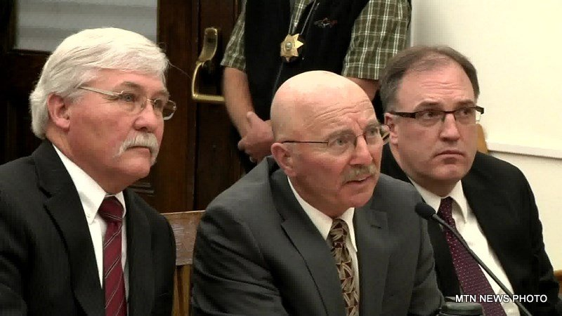 Joseph Campbell (center) pleaded no contest Wednesday in Helena to a charge of negligent homicide.
