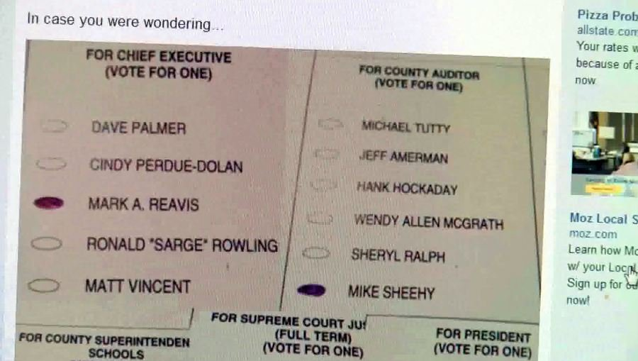 There's been a trend in recent years of people voting, and thenposting photos of their ballots on Facebook or Twitter.
