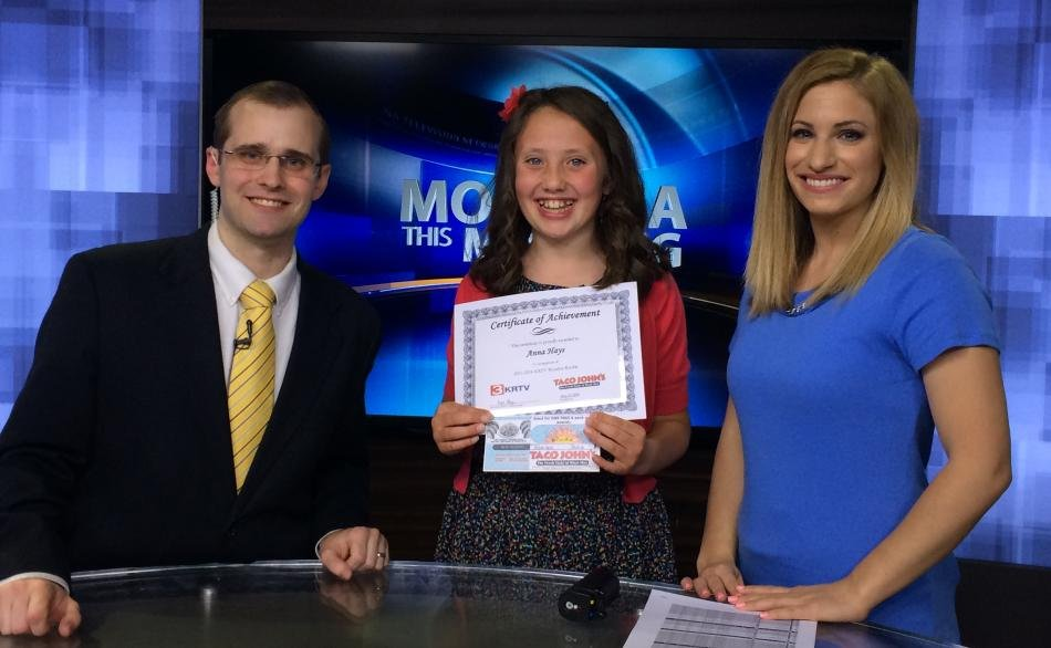 Anna Hays was the KRTV Weather Rookie on Wednesday morning.