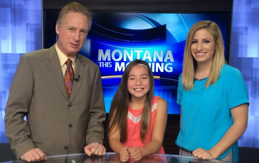 Aurora Salway was the KRTV Weather Rookie on Wednesday.