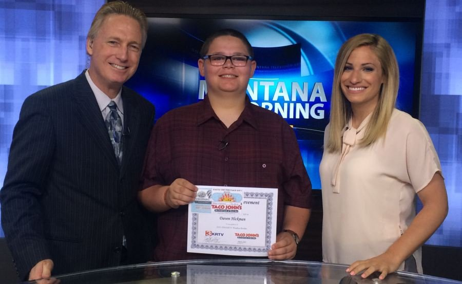 Daven Hickman, a student at Valley View Elementary School in Great Falls, was our Weather Rookie on Wednesday morning.