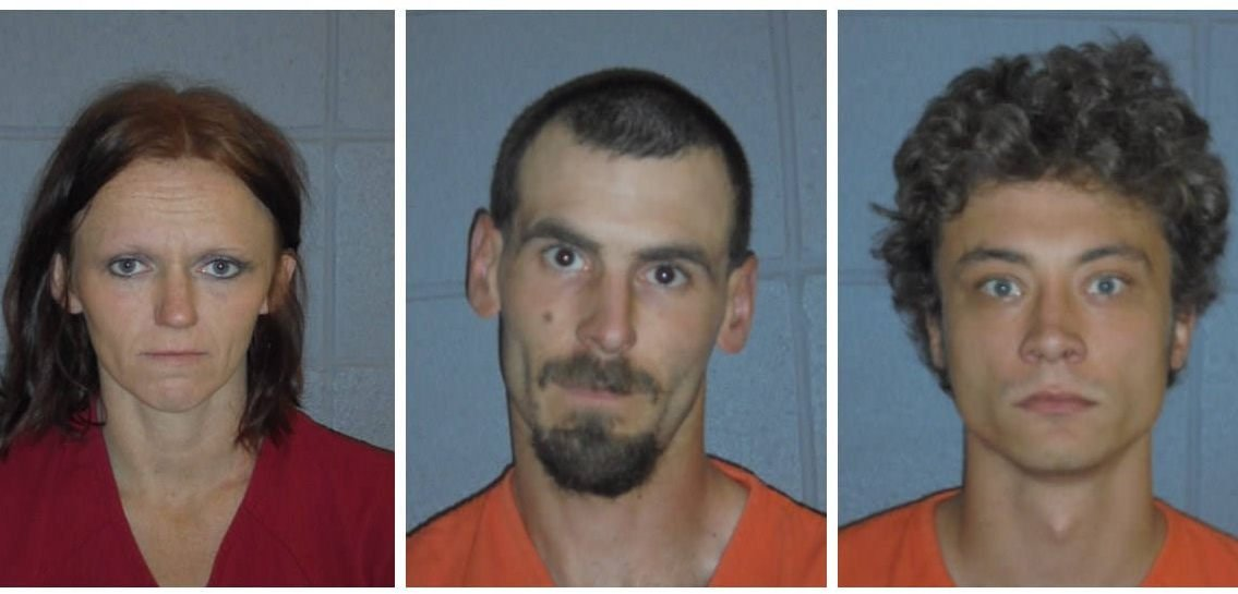 Melisa Crone (left), Christopher Hansen (center) and David Toman (right) are all awaiting charges related to the murder of Wade Allen Rautio.
