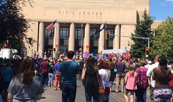 Big Sky Parade parade at Civic Center in downtown Great Falls (MTN News photo by Mackenzie Lee)