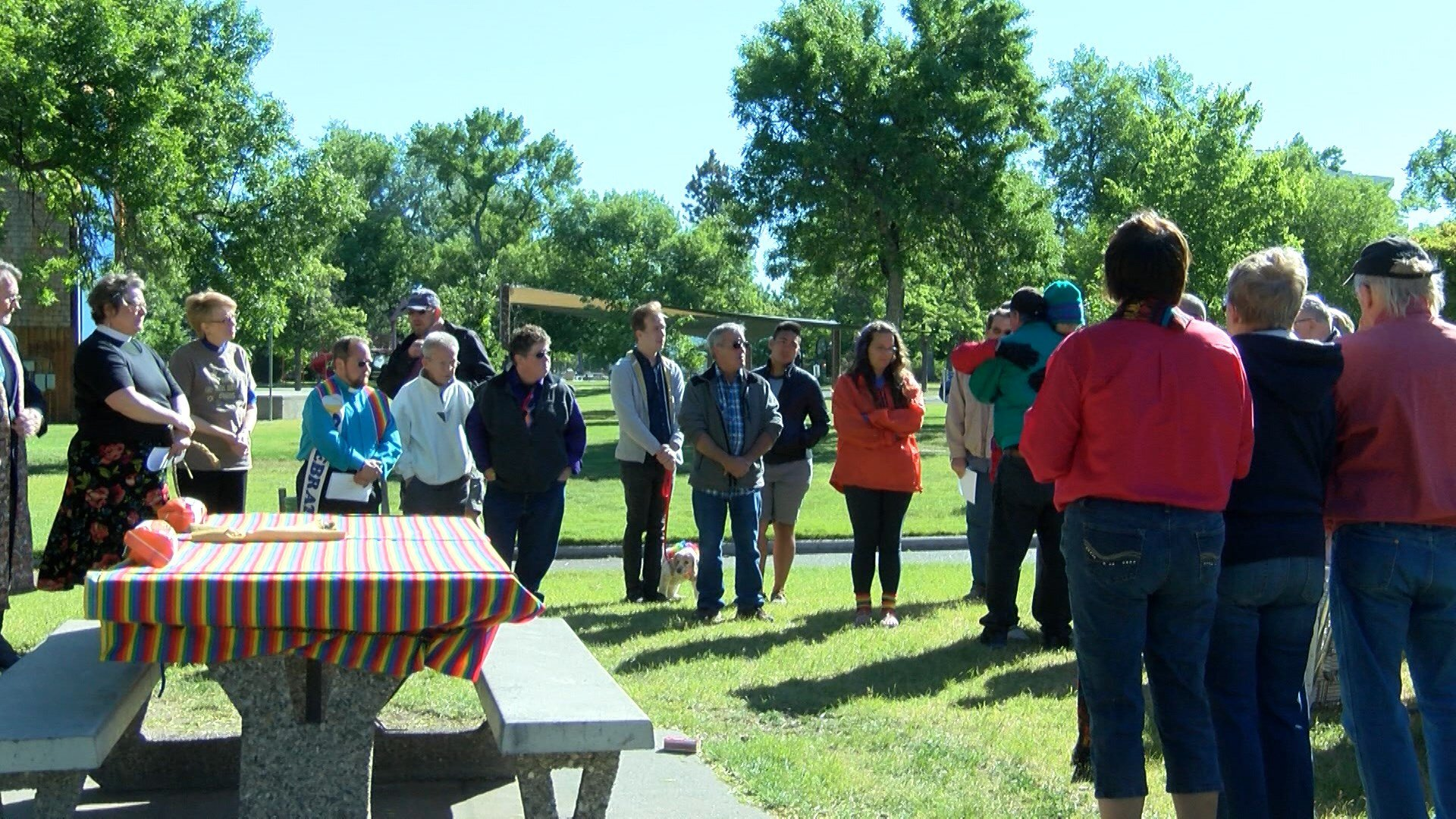 Several members of the group shared personal stories and items that symbolized their unity with the LGBTQIA Community.