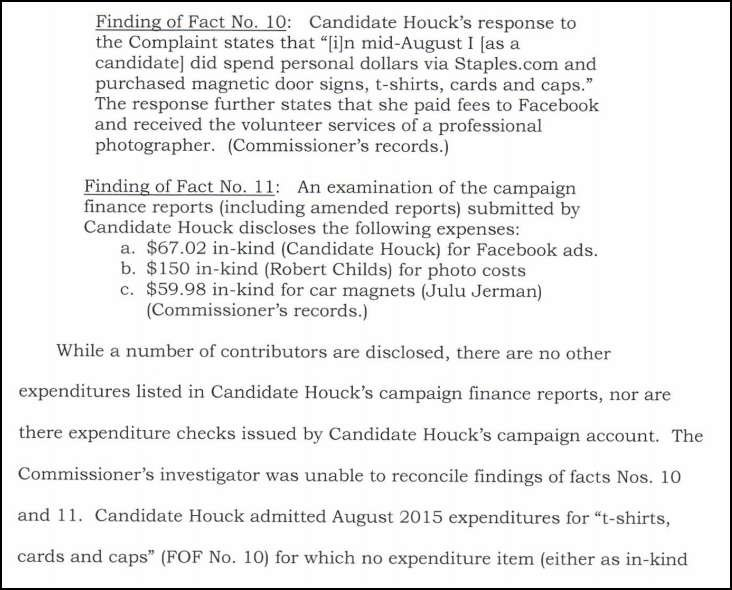 The complaint was filed last year by fellow candidate Don Petrini.