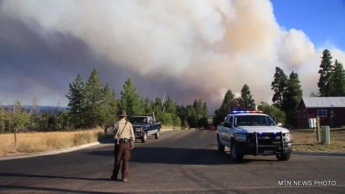 The Ravalli County Sheriff's Office reports that one person died during the evacuation of homes near Hamilton.