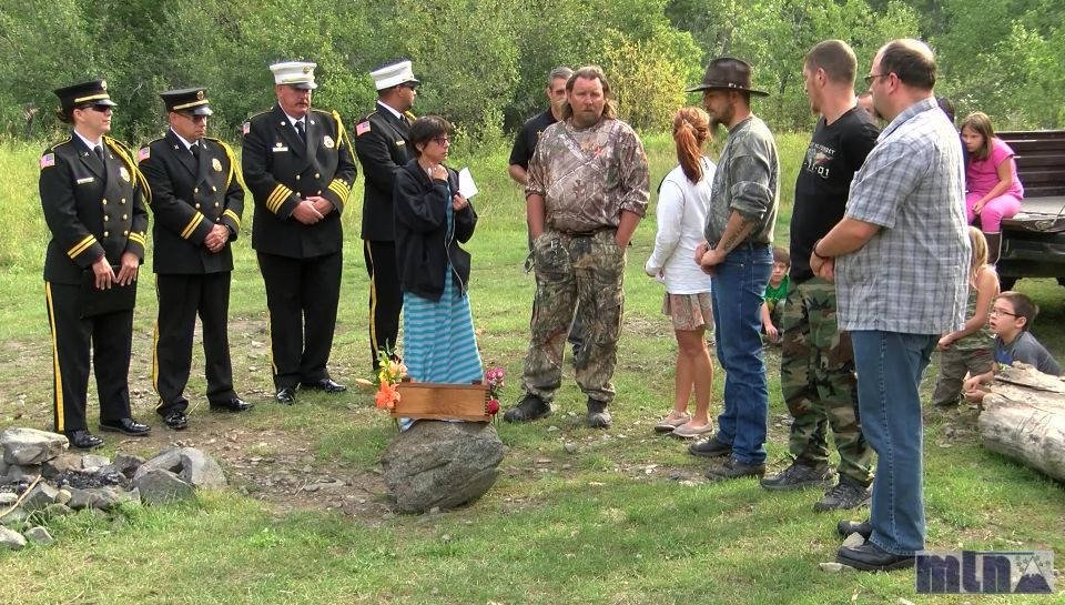 The memorial procession began in Great Falls and traveled to Thain Creek Campground in the Highwood Mountains - one of Adam's favorite places.