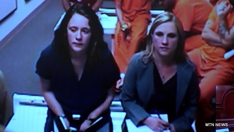 Brianna Coombs appeared in District Court on Monday afternoon