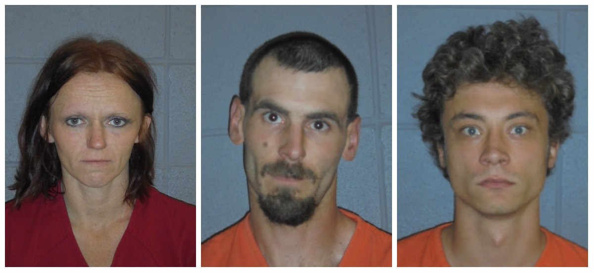 Melisa Crone (left), Christopher Hansen (center) and David Toman (right) have all pleaded not guilty to charges of accountability to deliberate homicide.