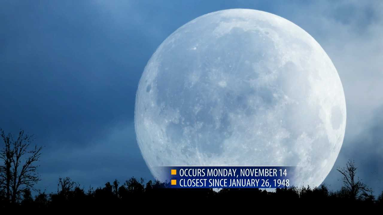 Monday's supermoon extra super; closest in nearly 69 years