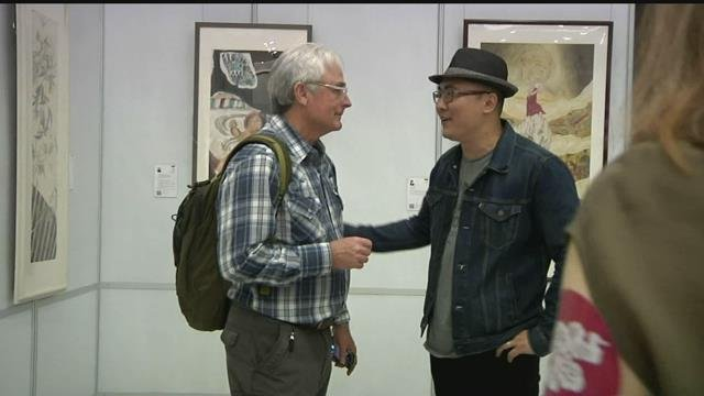 """In September, a group traveled to Asia to take part in a tour and exhibition called """"West on the Left, East on the Right."""""""
