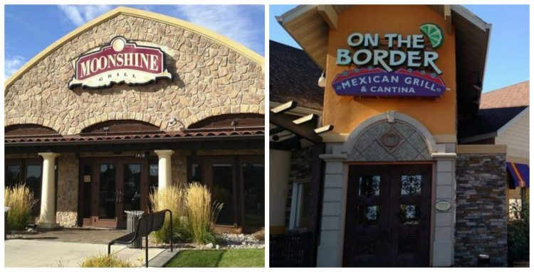 The Moonshine Grill and On The Border restaurants closed in early October of 2015.