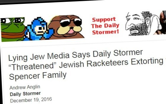 """The Daily Stormer"" screenshot"