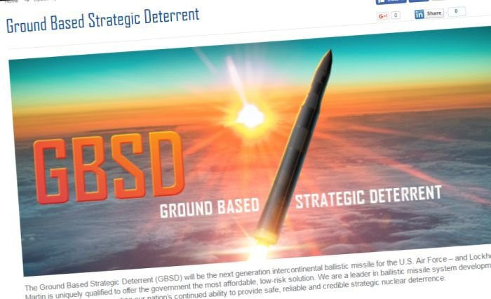 Screenshot from Lockheed Martin GBSD website