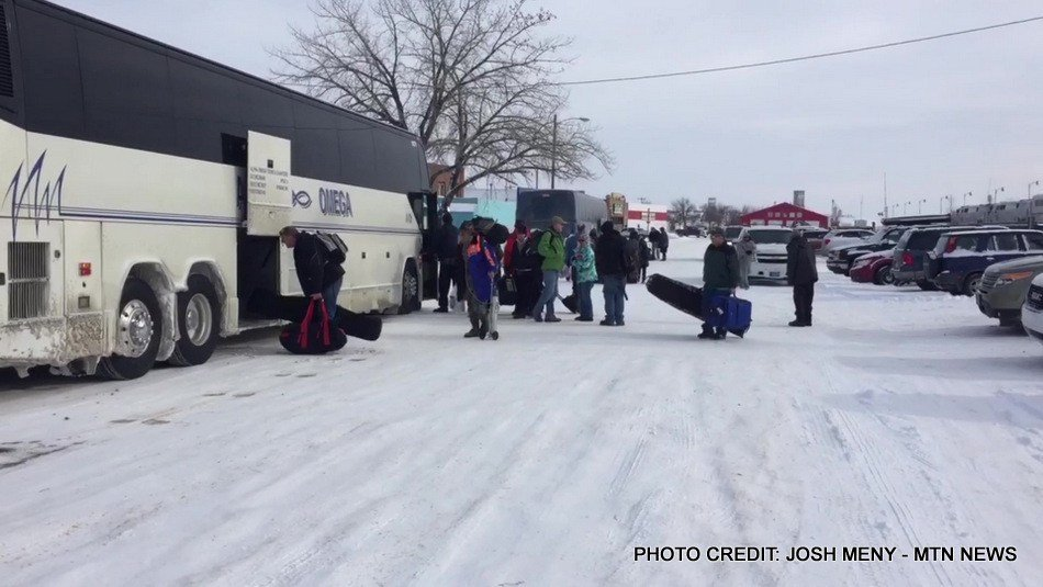 Amtrak passengers stranded along the Hi-Line near Shelby are finally heading west on Tuesday afternoon, this time by bus.