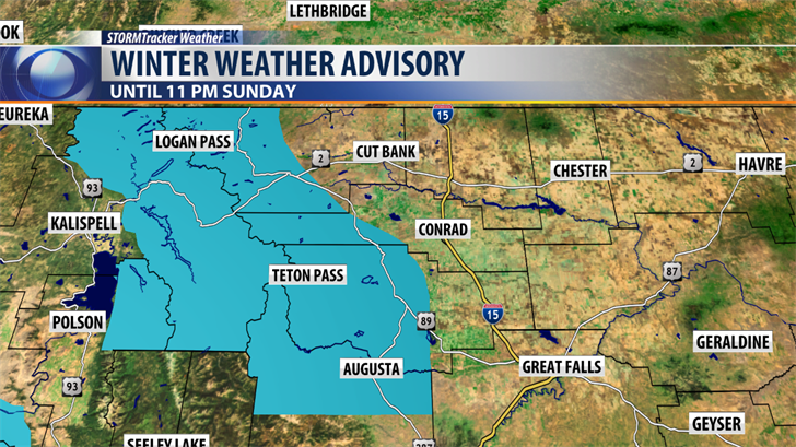 Winter Weather Advisory in effect - KRTV.com | Great Falls, Montana