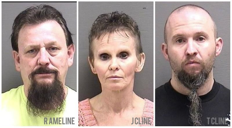 Ronald Lewis Ameline, 58 years old; Jody Cline, 55; and Terry Cline, 36.