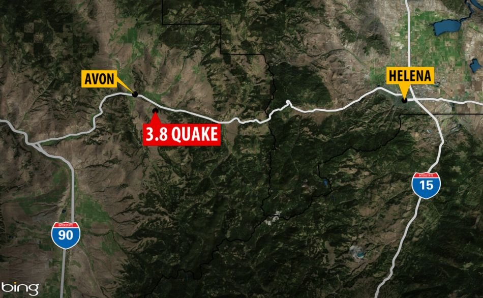 It was centered 3.2 miles southeast of Avon,about 25 miles west of Helena, and 39 miles north of Butte.