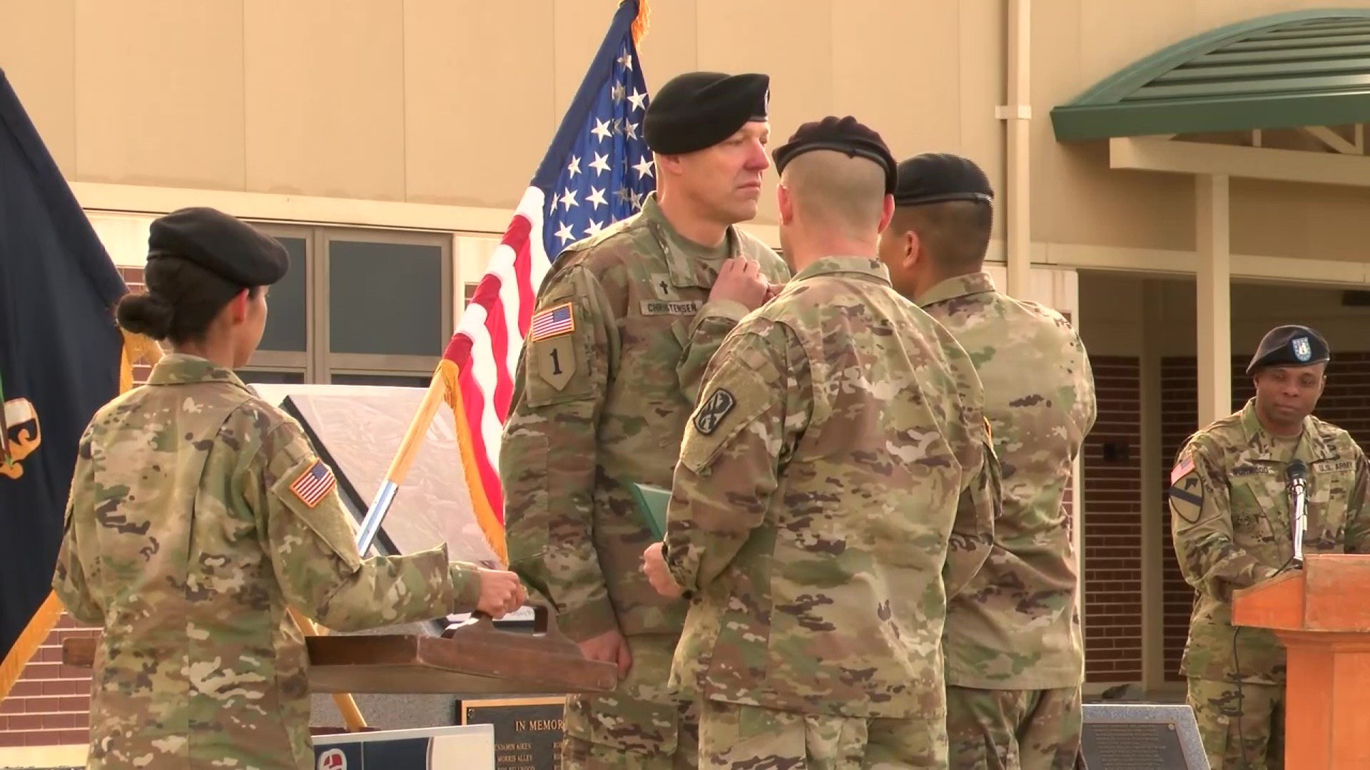 Captain Matthew Christensen was awarded the Soldier's Medal for his actions (U.S. Army photo)