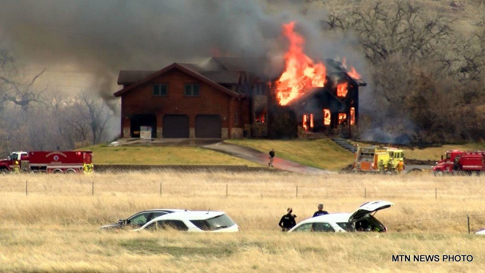 The fire was at 55 Tumbleweed Lane, and was reported just before 1 p.m.