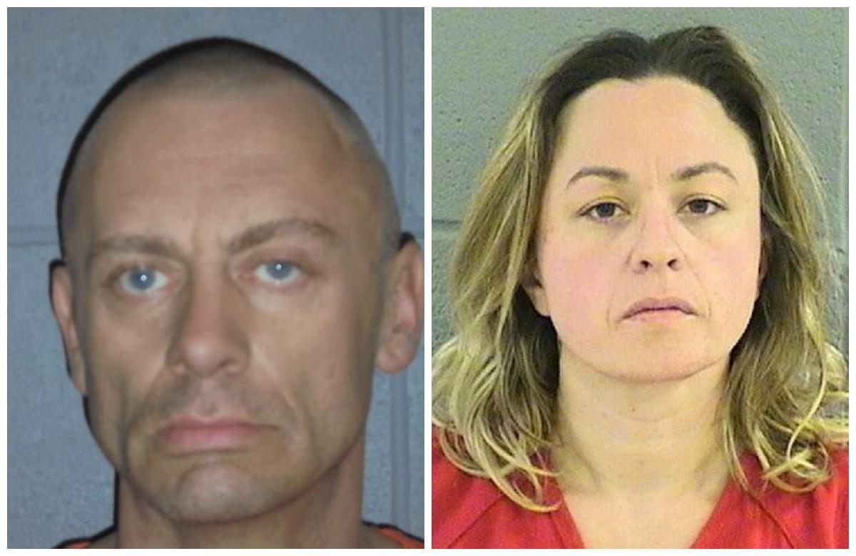 Dominic Lee, 44; Amanda Brandt, 34 (Flathead County Sheriff's Office booking photos)