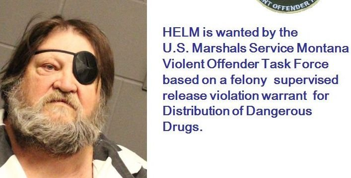 The United States Marshals Service has issued a BOLO Alert (Be On the Look-Out) for convicted drug dealer Jeffery Helm.