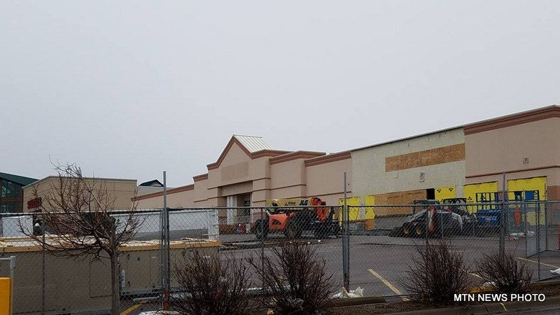 Construction of the Hobby Lobby and PetSmart stores in the area once occupied by Sears