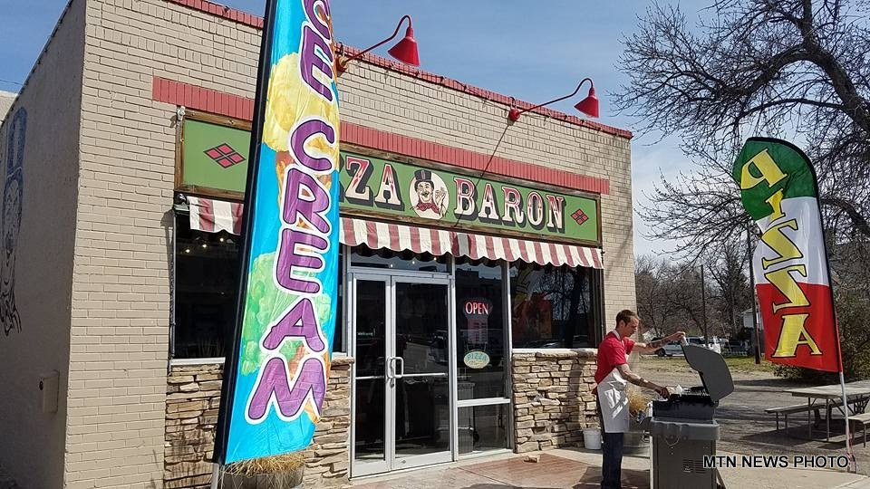 The Pizza Baron restaurant in downtown Great Falls