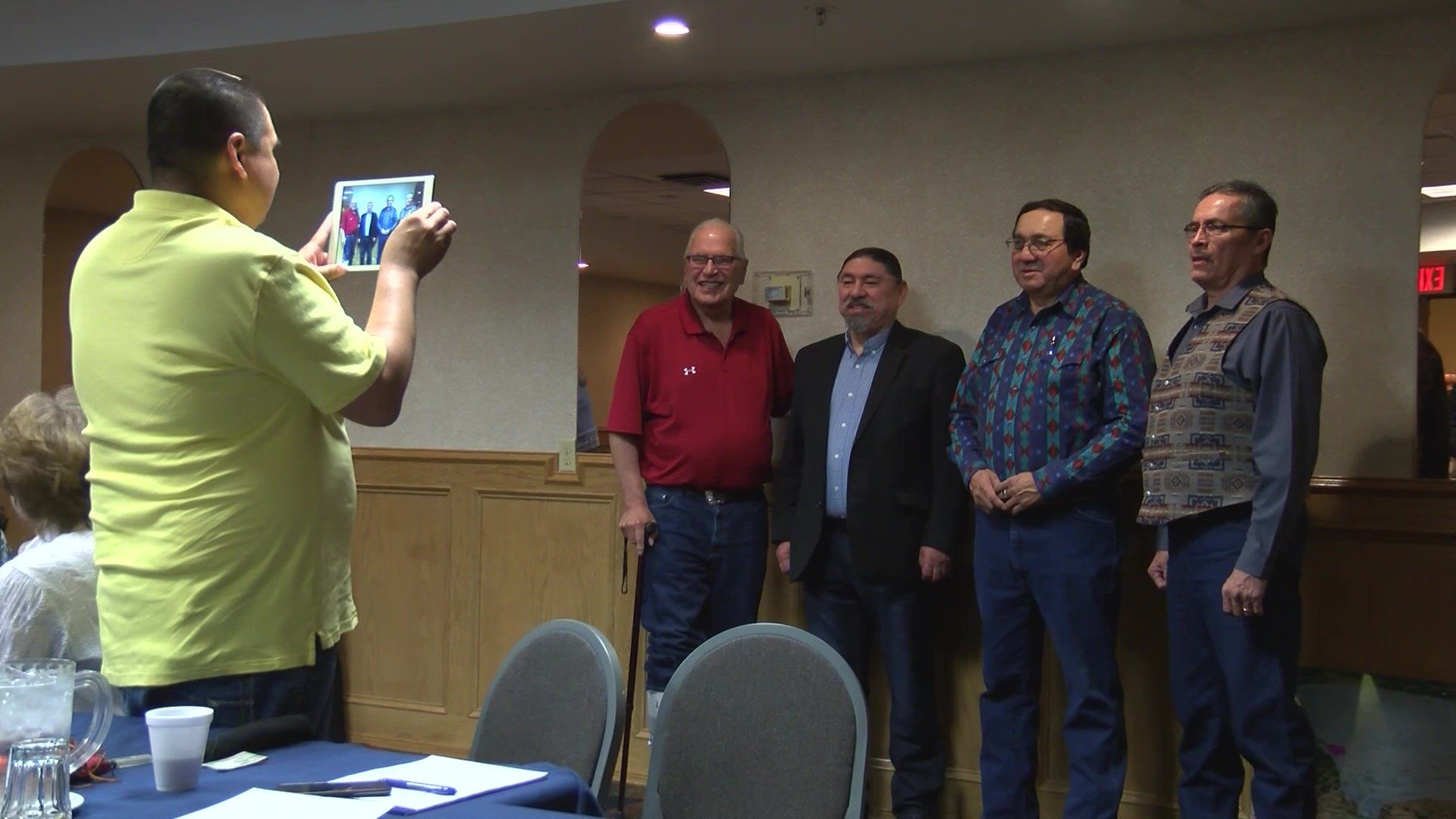 Tribal leaders held a press conference at the Holiday Inn in Great Falls on Friday morning.