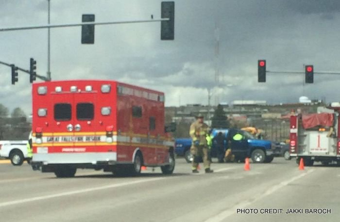 The crash happened at the intersection of 15th Street and River Drive.