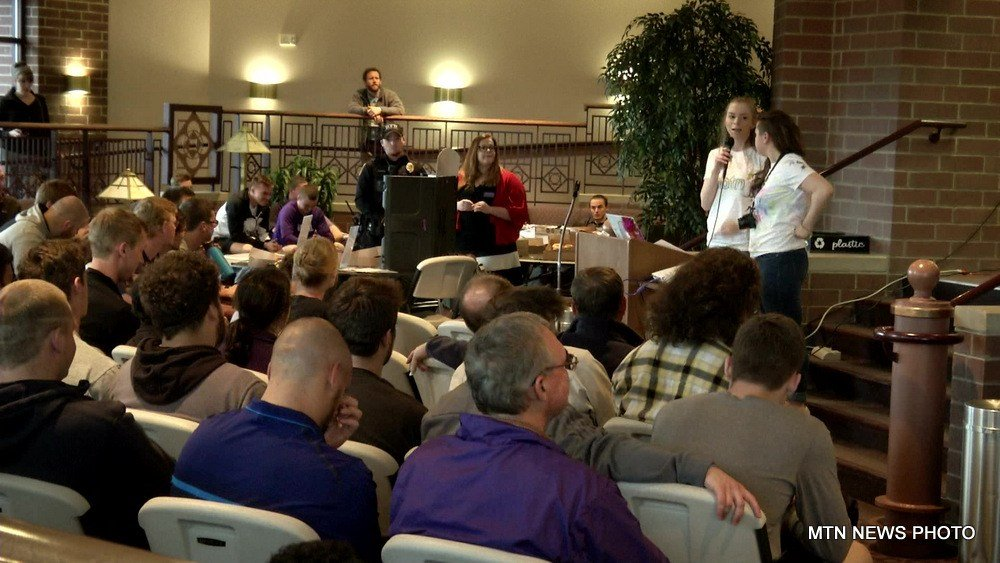"""""""Take Back The Night"""" event held at Carroll College"""