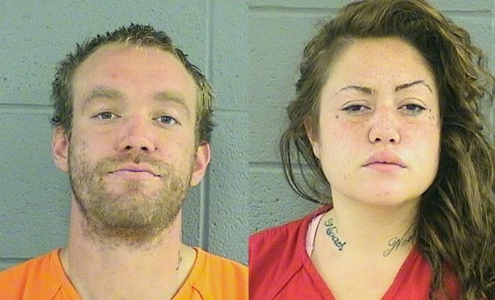 Cecil Thomas Rice and Heather Joy Meeker (Flathead County jail booking photos)