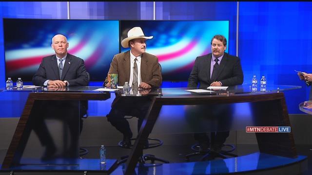 Republican Greg Gianforte, Democrat Rob Quist, and Libertarian Mark Wicks debated in Great Falls.