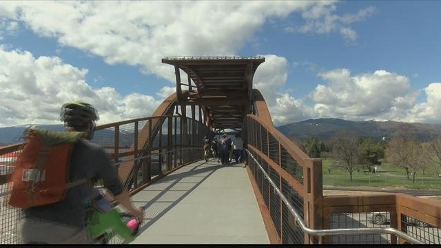 The long-awaited Midtown Missoula Bridge is now open to the public. (MTN News photo)