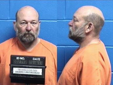 loyd Montier Barrus, 61, is being held on a felony deliberate homicide charge in the Missoula County jail. (MCSO booking photo)