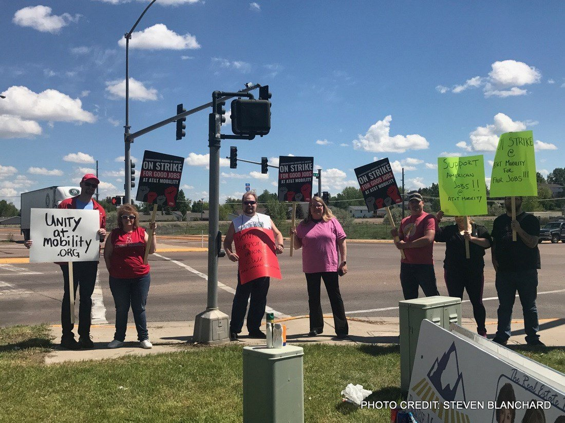 Workers went on strike on the city's southwest side holding a picket line between the McDonald's and the Classic 50's Casino near Marketplace Drive.