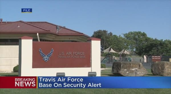 California air force base on lockdown after shooter reported
