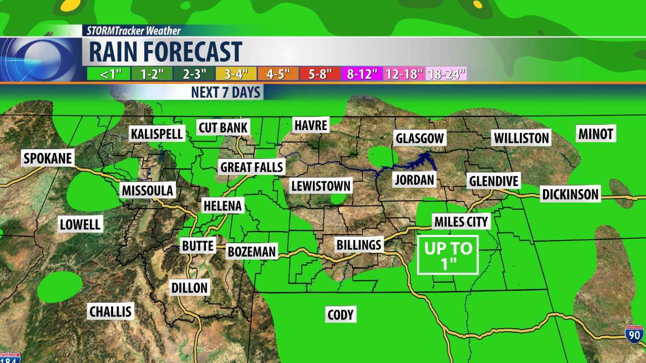 7 day rain forecast for Montana