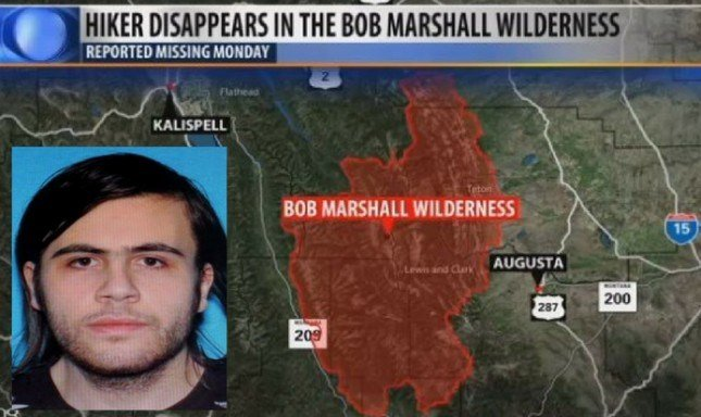 Search efforts continue for Eric Hellmuth, who was reported missing in the rugged Bob Marshall Wilderness on Monday.