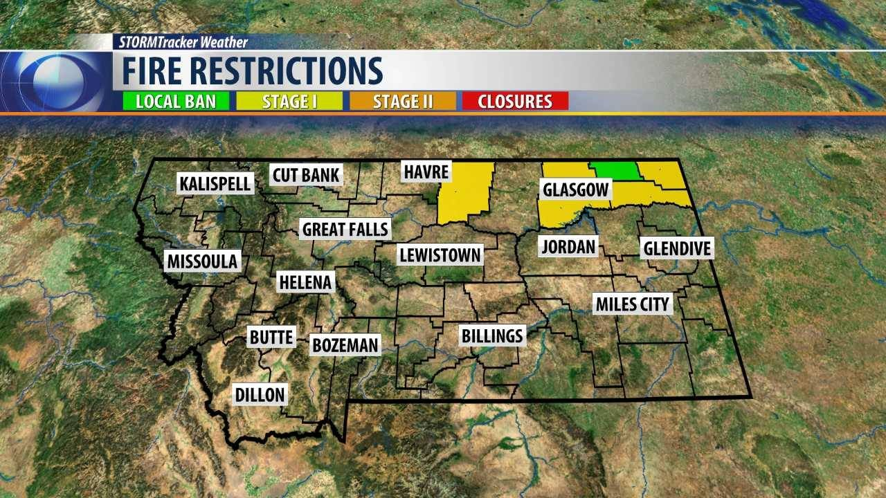 Stage 1 Fire Restrictions Ordered for Blaine, Roosevelt, Sheridan, and Valley Counties