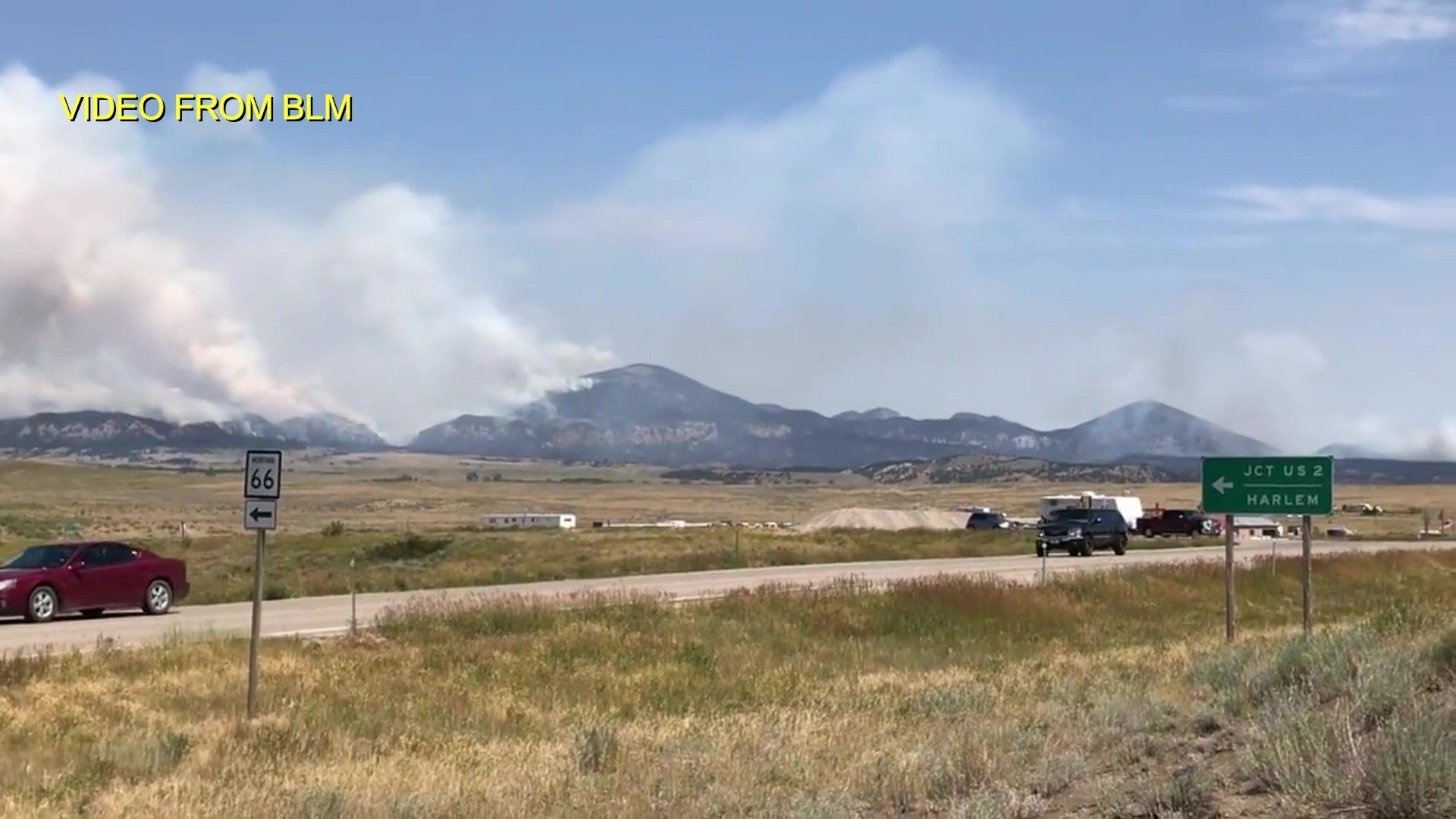 The July Fire burning near Zortman has exploded in size, and now covers and estimated 8,381 acres