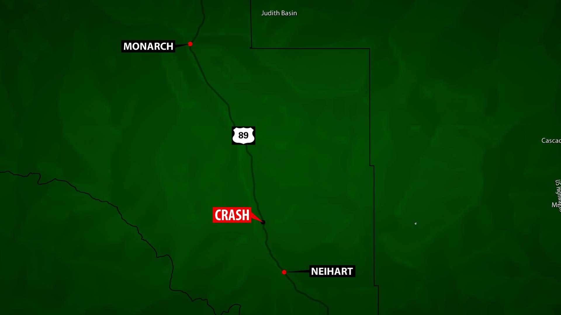 It happened U.S. Highway 89 near mile marker 39, just north of Neihart.