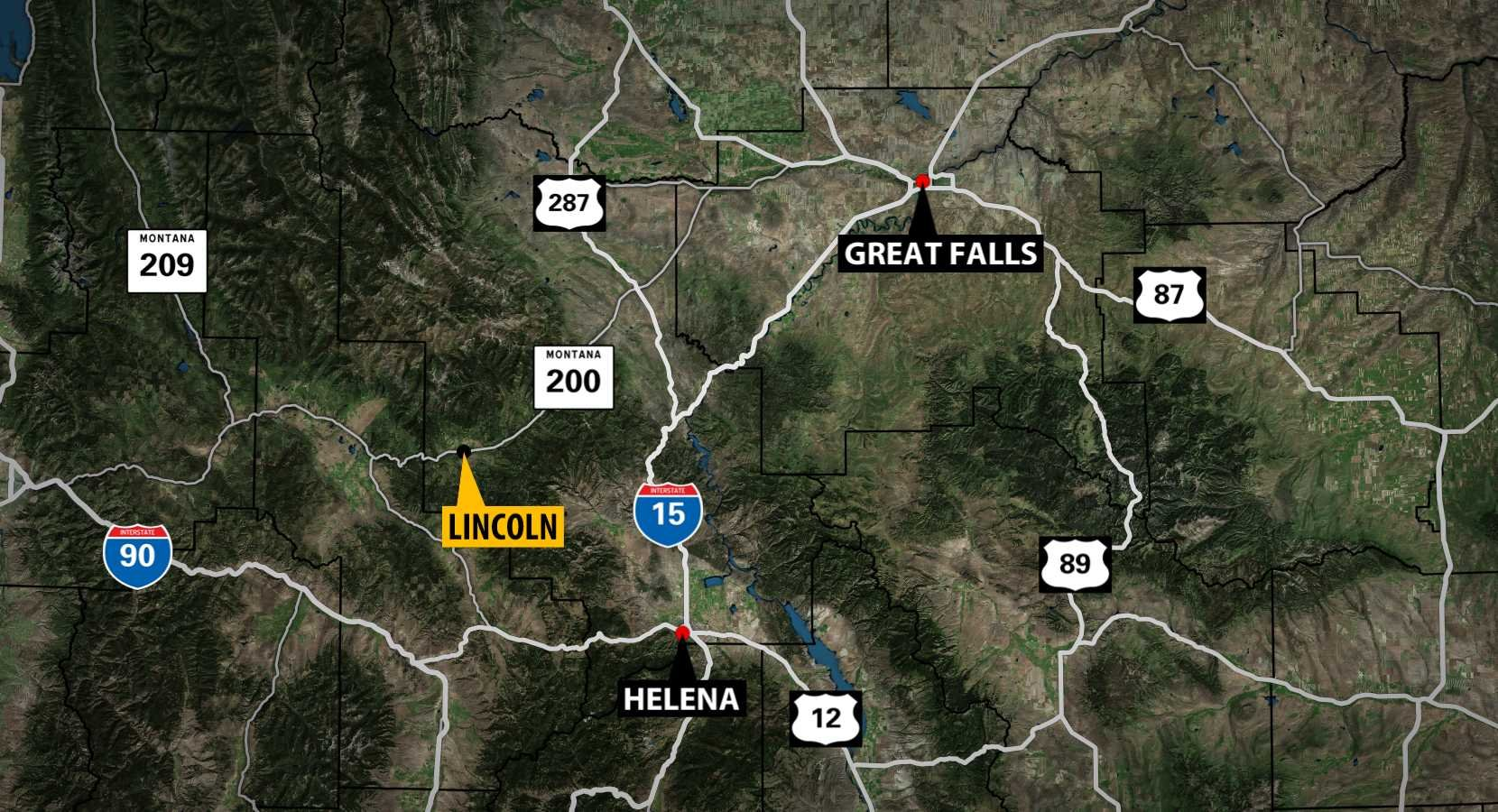 Several small wildfires have been reported near Lincoln