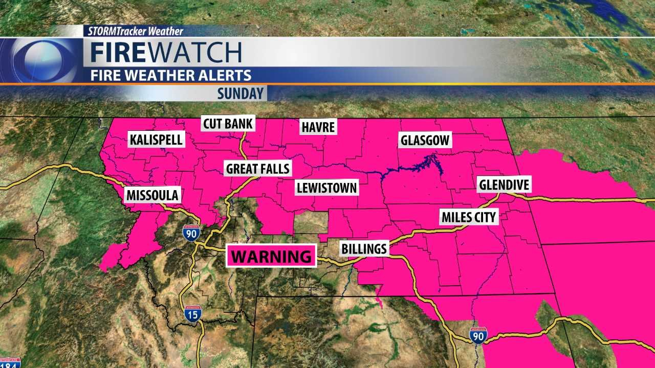 Fire Weather Warning in effect for Sunday