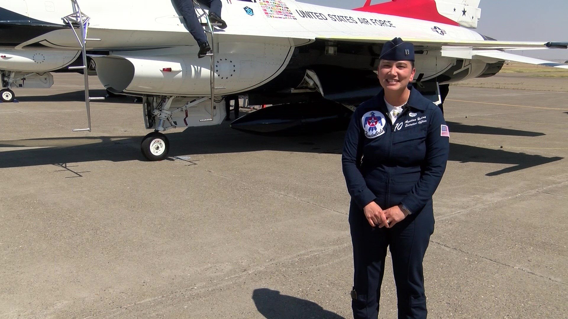 Captain Angelina Urbina currently serves as the Executive Officer for the USAF Thunderbirds