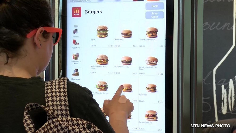 A McDonald's in Kalispell is among the first in the nation to include self-service kiosk ordering and a more tech centered experience.